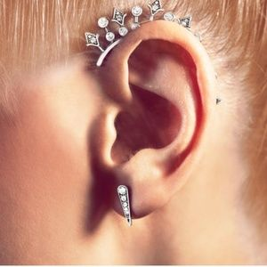 Starburst Ear Cuff and Studs